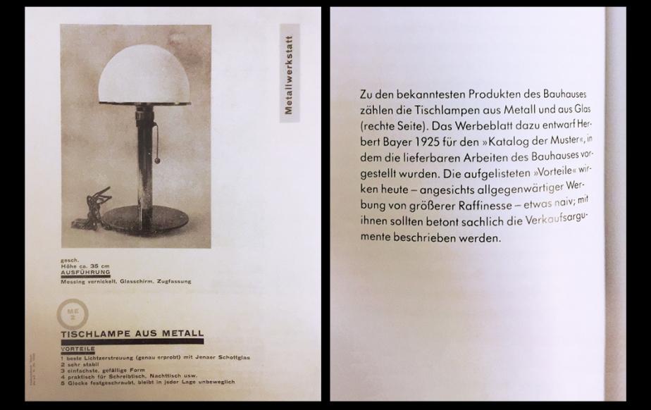 Taschen Bauhaus Tischlampe